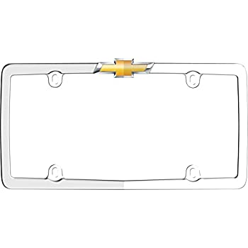 Amazon.com: Cruiser Accessories 10437 Chrome/Gold \'Chevy\' License ...