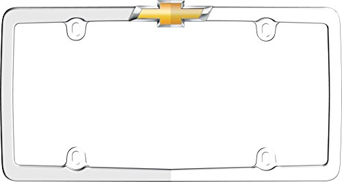 Cruiser Accessories 10437 Chrome/Gold 'Chevy' License Plate Frame Chevy License Plate