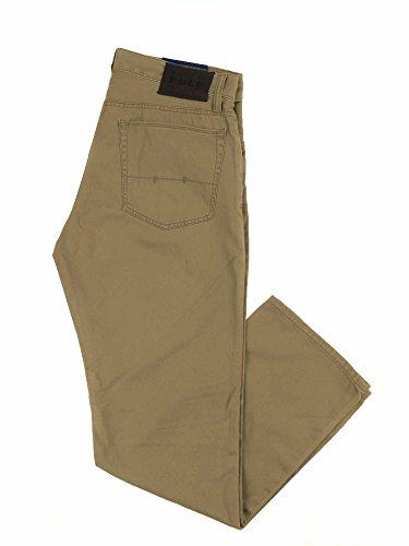 Polo Ralph Lauren Mens Five Pocket Straight Fit Chino Pants (Montana Khaki, (Ralph Lauren Khaki Chino)