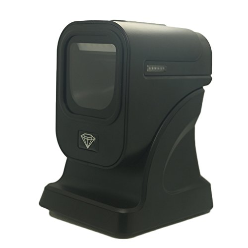 Kercan Automatic Orbit Omni-Directional 2D/QR PDF417 Data Matrix CCD Image Bar Code Scanner Reader with USB Black For Mobile Payment Computer Screen Scan by Kercan