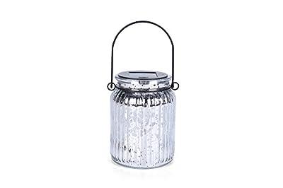 Voona 2-Pack Solar Mercury Glass Jar Hanging Outdoor Light Large Size