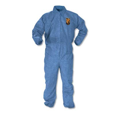 KCC45003 A60 Elastic-Cuff amp; Back Coveralls, Blue, Large