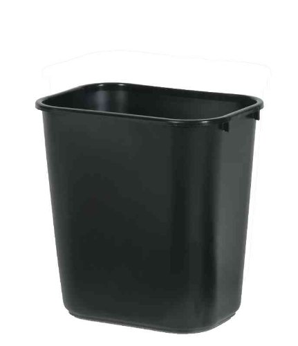 Rubbermaid Commercial Products - Rubbermaid Commercial - Soft Molded Plastic Wastebasket, Rectangular, 7 gal, Black - Sold As 1 Each - Easy to handle. - Fits in well in many home and work environments. - Rims add durability, are easy (Plastic Rectangular Basket)