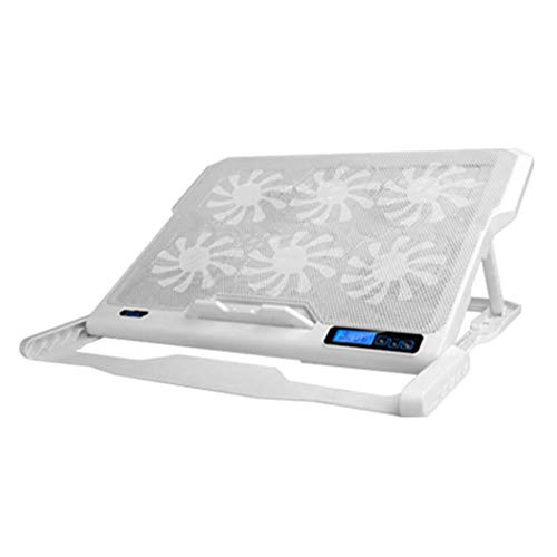 ICE COOREL K6 2 USB Laptop Cooler 6 Cooling Fan Notebook Holder (White) from Vipeco