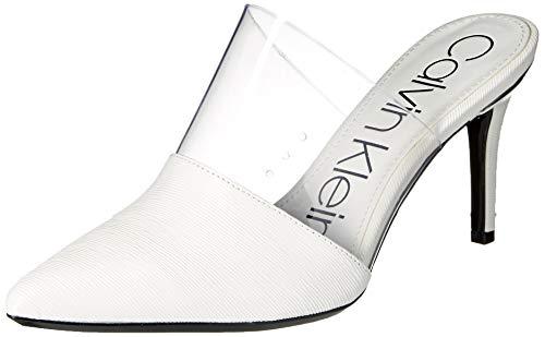 Calvin Klein Women's GRAYCIE Pump, White Liquid Patent, 9.5 M US