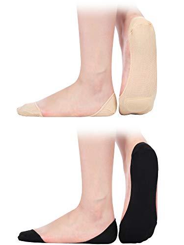 f1edf54c6bf 6 Pairs Women Slingback Socks Half Liner Socks Low-cut No Show Padded Socks  (
