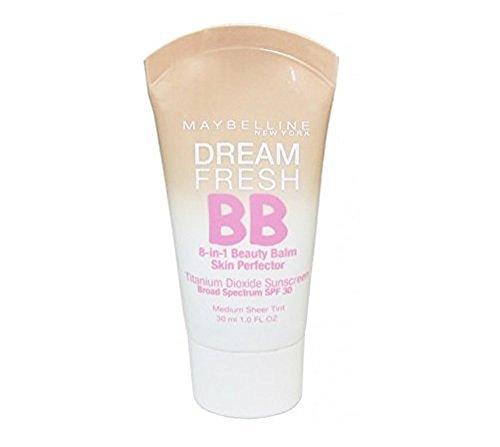 Maybelline Makeup Dream Fresh BB Cream, Medium Skintones, BB Cream Face Makeup, 1 fl (Lavender Sun Protection Cream)
