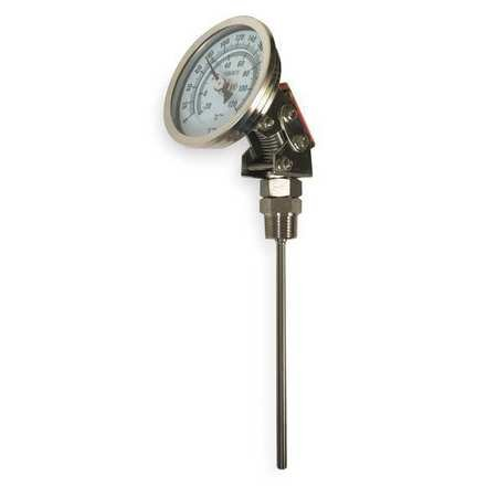 Bimetal Thermom, 5 In Dial, 0 to 250F by GRAINGER APPROVED