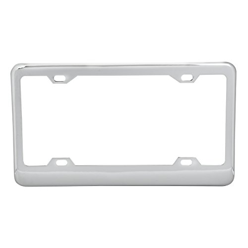 Grand General 60050 Chrome Plain License Plate Frame with 4 Holes