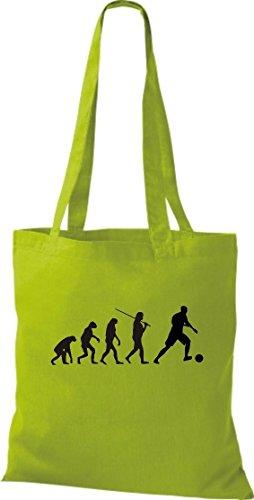 Cocodrilo Bolsa De Tela Evolution Fútbol portero deportes FUN Mujer Fútbol funda de algodón, bolsa, Shopper Bandolera muchos colores lima