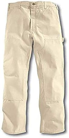 Roundhouse Made in USA 1101 Mens Natural Drill Double Front Painter Carpenter Dungaree Jean