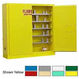 24-Gallon Manual Close, Wall-Mounted Flammable Cabinet Beige (Cabinets Flammable Grounding)