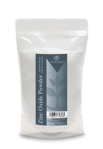 Zinc Oxide Powder 8 oz Non-Nano and Uncoated, 100% Pure Pharmaceutical Grade French Processed. Perfect for DYI Soap making, Sunscreen, Sunblock, Deodorant, Baby Diaper Rash Ointment and Acne Cream. (Use Of Zinc Oxide In Face Powder)