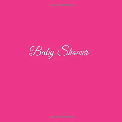 Libro De Visitas Baby Shower ideas regalos decoracion accesorios fiesta firmas invitados baby shower bautizo bebé niño niña 21 x 21 cm Cubierta Rosa ...