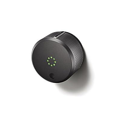 August Smart Lock 2nd Generation – Dark Gray, Works with Amazon Alexa