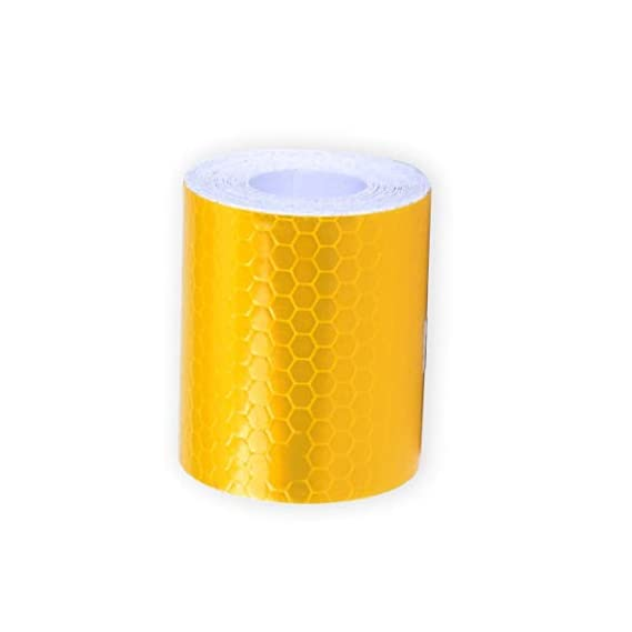 SYGA 3 Meter Reflective Warning Tape Sticker, High Visibility Safety Honeycomb Conspicuity Tapes(Orange)