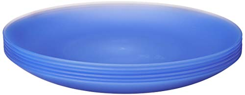 Coza Design- Unbreakable and Reusable Plastic Plate Set- BPA Free- Set of 6 (Blue)
