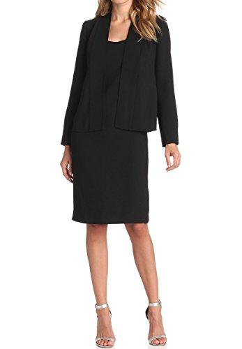 ViviClo Women's Two Pieces Long Sleeve Black Suit Dress Sets