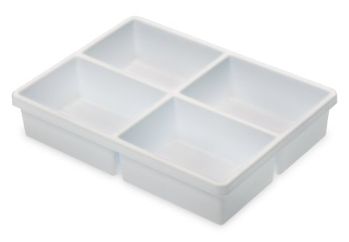 TrippNT 50917 High Impact Styrene 4 Compartment Drawer Organizer, 11-5/8