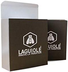 LAGUIOLE Cuchillo sacacorchos equipado de un sacacorchos descapsulador, mango de madera exotico, acero inoxidable, hoja 8cm.