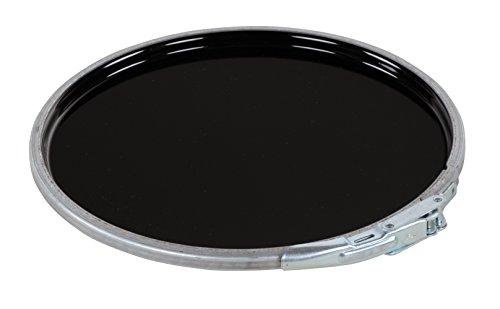 Vestil LID-STL-LL-UN Steel UN Rated with Lever Lock Pail Lid, for 5 gallon, Black