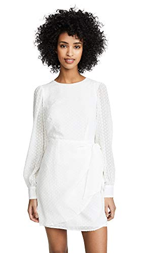 (Yumi Kim Women's Wonderland Dress, Swiss Dot White, Large)