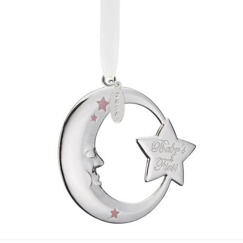 Reed & Barton Baby's First Christmas Moon Ornament- - Babys Christmas First Lenox