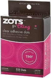 (Bulk Buy: Therm O Web Zots For Tiny Bling Clear Adhesive Dots (4-Pack))