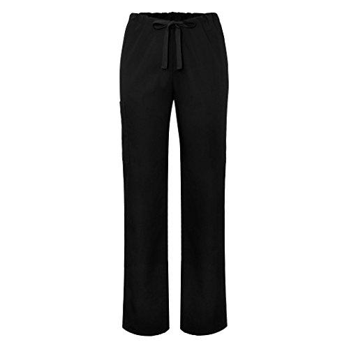 (Adar Universal Unisex Natural-Rise Drawstring Tapered Leg Pants Tall - 504T - Black - XS)