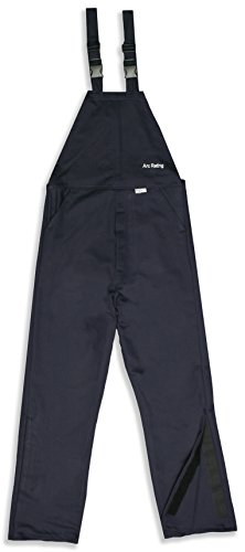 National Safety Apparel C45UPLG32 ArcGuard HRC 2 Arc Flash Bib Overall, Large, Navy by National Safety Apparel Inc