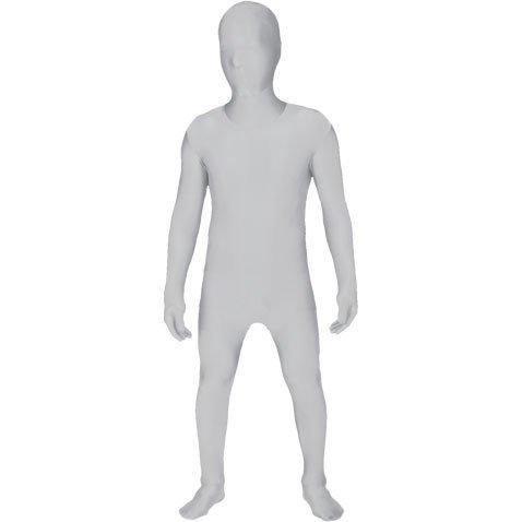 Morphsuits White Original Kids Costume - Size Small 3'-3'5 (91cm-104 cm)