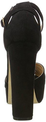 Buffalo Women's 315276 IMI Suede Bhwmd A350 Wedge Heels Sandals Black (Black 01) Nk0eK