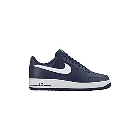 Nike Men's Air Force 1, MIDNIGHT NAVY/WHITE-MID NAVY, 10.5 M US