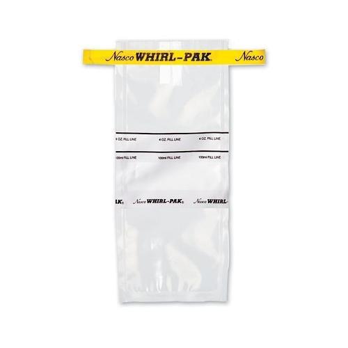 Nasco Whirl-Pak B01065WA Write-On Bag, 23cm L x 11.5cm W, 0.064 mm Thickness, 532ml Capacity (Box of 500) (Pak Lab)