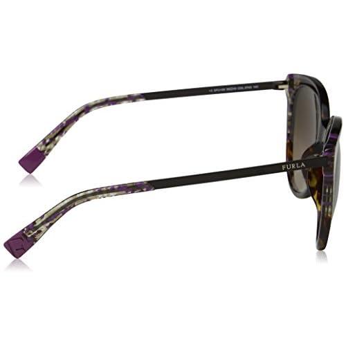 cc329d35c2 Furla Eyewear, Gafas de Sol para Mujer, Multicolor (Shiny Brown  Havana/Yellow