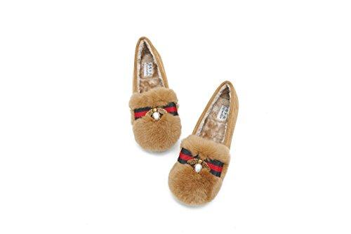 GAOLIM Zapatos Femeninos De Desgaste Exterior De Invierno Patadas Vendiendo Soja Zapatos De Mujer Invierno Zapatos Gruesos Que Naranja