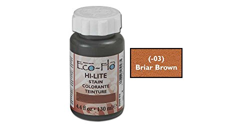 Lites Brown Leather (Tandy Leather Eco-Flo Hi-Lite Stain 4.4 fl. oz. (132 ml) Briar Brown 2608-03)