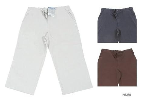 Mens Plain Three Quarter (3/4) Length Linen Trousers/Shorts (XL ...