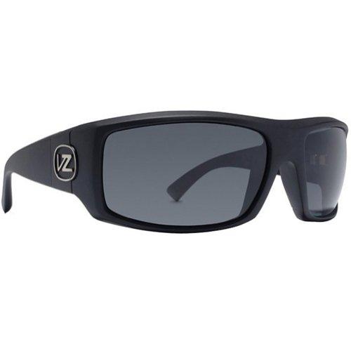 VonZipper Clutch Men's Polarized Race Wear Sunglasses - Black Satin/Grey Poly / One Size Fits All