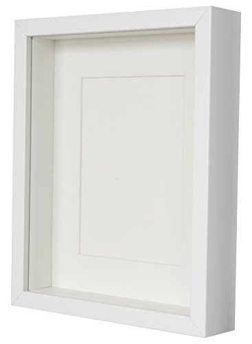 BD-ART-White-Shadow-Box-3D-Picture-Frame-20-x-25-x-47-cm-with-Mount-5×7-inch