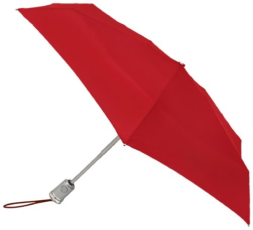 Crimson Collapsible (Totes Basic Automatic Umbrella,Crimson,One Size)
