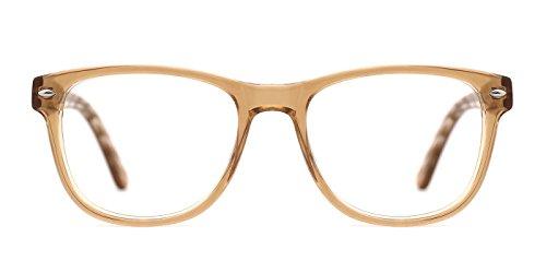 TIJN Semi-Transparent Wayfarer Acetate Eyeglasses Frame Zebra - Online Discount Prescription Glasses