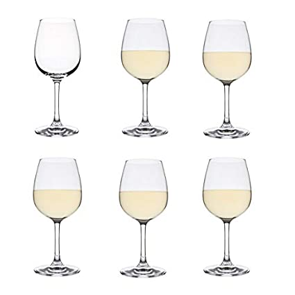 17fb2b0d269 Dartington Crystal - Crystal White Wine Glasses, Set of 6: Amazon.co ...