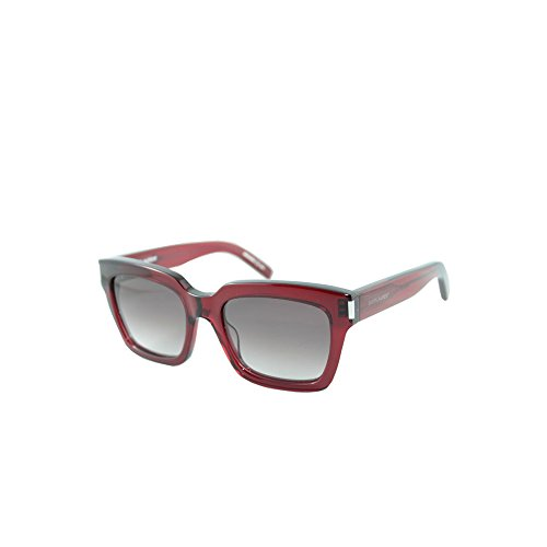 Saint Laurent - BOLD 1, Geometric, acetate, women, RED/RED BROWN SHADED(006), - Saint 1 Sunglasses Bold Laurent