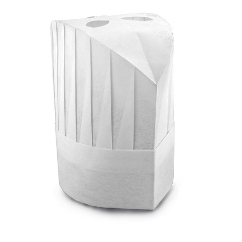 New Star 32215 Disposable Non Woven Round Chef Hat, 9-Inch, White, Set of 10