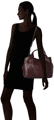 Clarks Talara Star - Henkeltasche Donna, Violett (Burgundy Leather), 17x25x41 cm (L x H D)