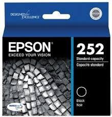 Epson Genuine Brand Name, OEM T252120 Black DURABrite Ultra Ink (350 YLD) for Workforce WF-3620, WF3620 DTWF, WF-3620 DWF, WF-3640, WF-3640 DTWF, WF-7110, WF-7110 DTW, WF-7610, WF-7610 DWF, WF-7620, WF-7620 DTW, WF-7620 DTWF (Printer Cartridges Wf 3640)
