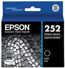 Epson Genuine Brand Name, OEM T252120 Black DURABrite Ultra Ink (350 YLD) for Workforce WF-3620, WF3620 DTWF, WF-3620 DWF, WF-3640, WF-3640 DTWF, WF-7110, WF-7110 DTW, WF-7610, WF-7610 DWF, WF-7620, WF-7620 DTW, WF-7620 DTWF Printers