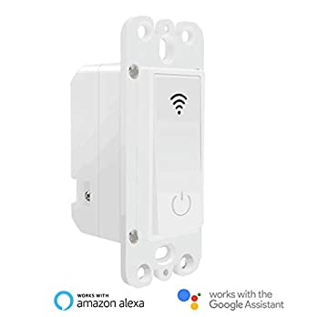 Useelink Smart Light Switch,WiFi smart wall light switch.Compatible with Alexa, Google home and IFTTT,no Hub required