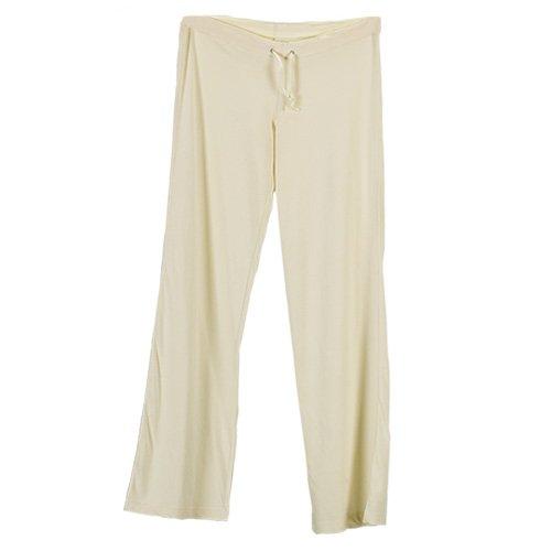 Ecoland Women's Organic Cotton Drawstring Pants - Natural XL Elastic Drawstring Pants